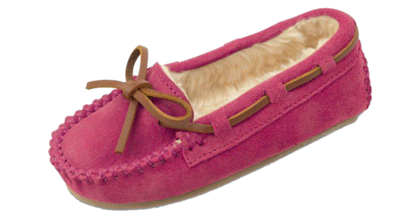 Complete-Sheep-Shoppe-Children's-Sheepskin-Slippers-Pink