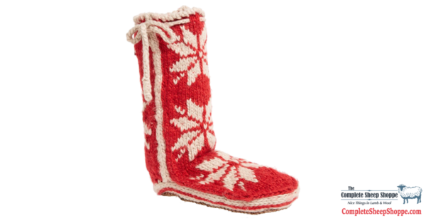 Complete-Sheep-Shoppe-Woolrich-Chalet-Socks-Red