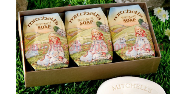 Mitchell's Wool Fat Soap - 3 Bar Gift Pack Large